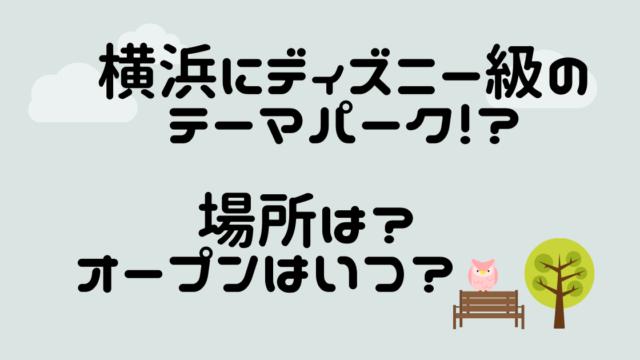 横浜にディズニー級のテーマパーク!_ 場所は?オープンはいつ? (1)