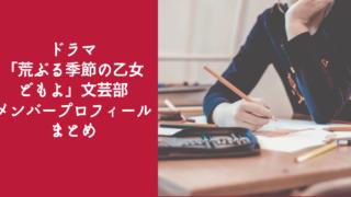 ドラマ「荒ぶる季節の乙女どもよ」 文芸部プロフィール