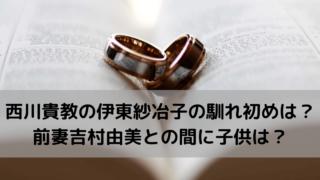 西川貴教の伊東紗冶子の馴れ初めは?前妻吉村由美との間に子供は? (1)